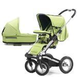 Mutsy 4Rider Single Spoke Newborn Stroller System - Team Lime