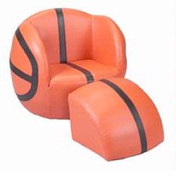 Giftmark 6730 Children's Upholstered Basketball Chair with Ottoman