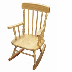 Giftmark 1410N Deluxe Child's Spindle Rocking Chair (Natural)