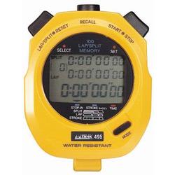Ultrak 495-Y 100 Lap Memory Stopwatch (With 3 Line Display) - Yellow
