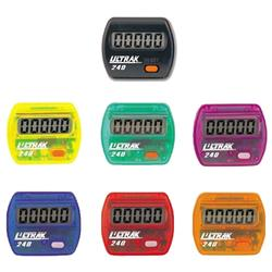 Ultrak 240-SET pack of 6 Ultrak 240 Electronic Step Counters In Rainbow Colors  (Step Only)