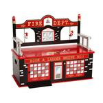 Levels of Discovery LOD20036 Firefighter Toy Box Bench