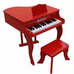 Schoenhut 3005R 30 Key Fancy Baby Grand Piano - Red