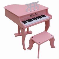Schoenhut 3005P 30 Key Fancy Baby Grand Piano - Pink