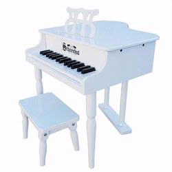 Schoenhut 309W 30 Key Classic Baby Grand Piano - White