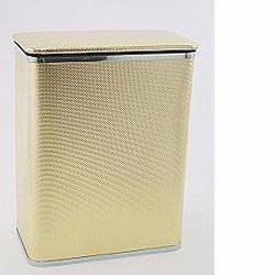 228-GDSV Bath Jewelry Collection Rectangular Hamper - Gold with Silver Lining