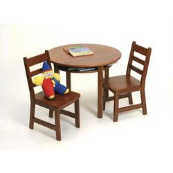 Child's Round Table w/shelf & Two chairs 524C -Cherry