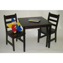 Child's Rectangular Table w/shelves & 2 Chairs 534E - Espresso Finish