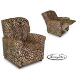 Dozydotes 10887 MicroSuede Four Button Childrens Recliner - All Cheetah