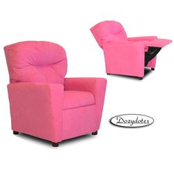 Dozydotes 10103 Micro-Suede Children's Recliner with Cup Holder - Hot Pink