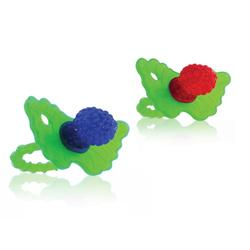 RaZBaby 009DBL Raz-Berry Teether Double Pack - Red & Blue