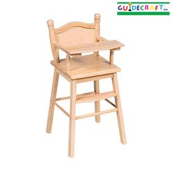 Guidecraft 98104 Doll High Chair - Natural