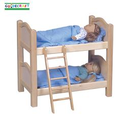 Guidecraft 98116 Doll Bunk Beds, Natural