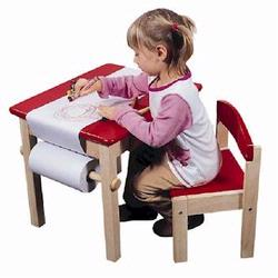 Guidecraft 98049 Art Table & Chair Set, Red