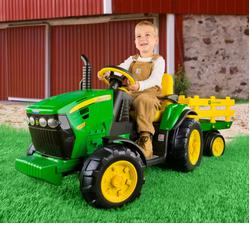 Peg Perego IGOR0039 John Deere Ground Force Tractor w/ trailer