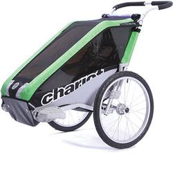 Chariot 10100413, Cheetah1 Chariot's lightweight model 1 child CTS Chassis only - Green/black/silver