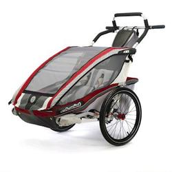 Chariot 10101304, CX2 Chariot's ultra deluxe 2 child CTS Chassis only - Burgundy/grey/silver