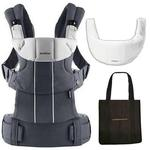 Baby Bjorn 095038US Comfort Carrier with Bib and carry Tote Bag - Anthracite