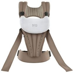 Britax K011005KIT1 - Front Soft Organic Baby Carrier in Tan with a Black (Non Organic) Tote Carry Bag