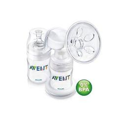 Avent SCF310/20 BPA Free Manual Breast Pump w/4 oz Bottle (PP)