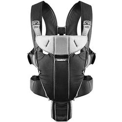 Baby Bjorn - Miracle Baby Carrier with LED Safety Reflector Light - Black/Silver, Cotton Mix
