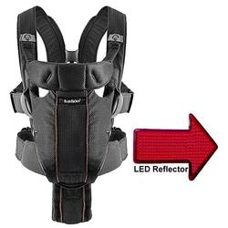 Baby Bjorn - Baby Carrier Miracle with LED Safety Reflector Light - Black Mesh
