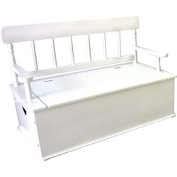 Levels of Discovery LOD33057 White Bench Seat w/ Storage