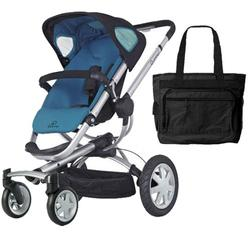 Quinny CV155BFW Buzz 4 Stroller - Blue Scratch With a Diaper Bag