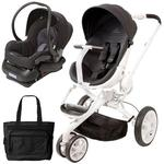 Quinny Moodd Stroller Travel system with bag and car seat - Black Irony