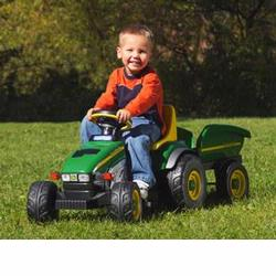 Peg Perego IGCD0522 John Deere Farm Tractor and Trailer