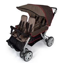 Foundations 4140167 The LX4 4-Passenger Stroller - EarthScape