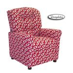 Dozydotes 12072 Fabric Four Button Childrens Recliner - Red Daisy