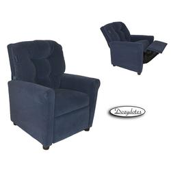 Dozydotes 14070 Fabric Four Button Childrens Recliner - Taurus Blue