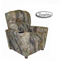 Dozydotes 13250 Fabric Children's Recliner with Cup Holder - Camouflage Green/Real Tree
