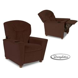 Dozydotes 13100 Micro suede Children's Recliner with Cup Holder - Chocolate