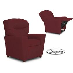 Dozydotes 14140 Micro Suede Children's Recliner with Cup Holder - Crimson