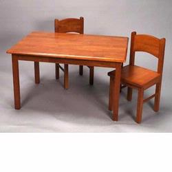 GiftMark 1406H Solid Wood Table and Chair Set, Honey