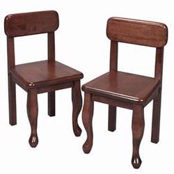 GiftMark 3003 Wood Queen Anne Chair Set, Cherry