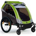 Burley D-Lite Green Trailer with 2-Wheel Stroller Kit