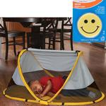 KidCo P3011 PeaPod Portable Travel Bed - Sunshine with Happy Face Night Light