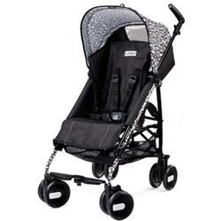 Peg Perego IPKR28US76RO01GR50 - Pliko Mini Stroller - Ghiro Solid Black with White Scroll print