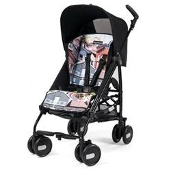 Peg Perego IPKR28US35RO01CA31 - Pliko Mini Stroller - House Solid Black with House print