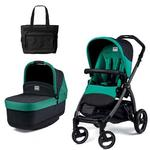 Peg Perego - Book Pop Up Stroller with Diaper Bag - Aquamarine