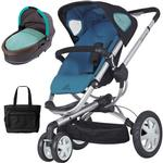Quinny - Buzz 3 Stroller with Bassinet and Bag - Blue