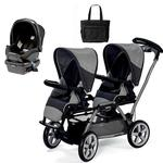 Peg Perego Duette SW Stroller with one Car Seat and a Diaper Bag  - Atmosphere