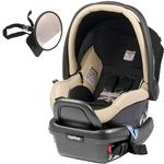 Peg Perego - Primo Viaggio 4-35 Car Seat w/ Back Seat Mirror - Paloma - Cream Eco-Leather