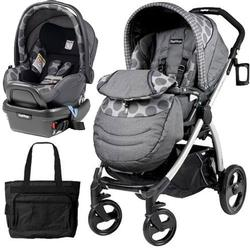Peg Perego - Book Plus Stroller Travel System with a Diaper Bag - Pois Grey