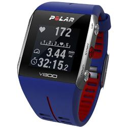 Polar - V800 GPS Sports Watch with Heart Rate Monitor and Bag- Blue/Red