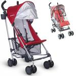 UPPAbaby - G-LiTE Stroller with Rain Shield - Denny (Red/Silver)