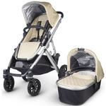 UPPAbaby 0101-LSY - VISTA Stroller - Lindsey (Wheat/Silver)